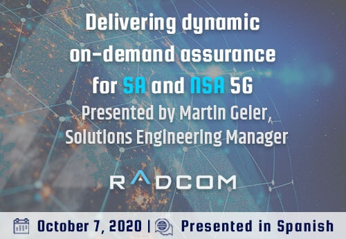 Delivering dynamic on-demand assurance for SA and NSA 5G