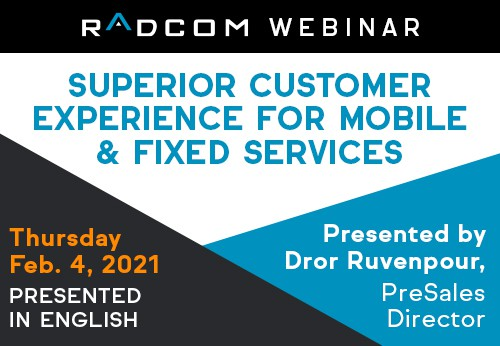 Superior customer experience for mobile & fixed services